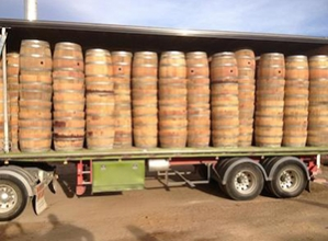 Full Wine Barrels